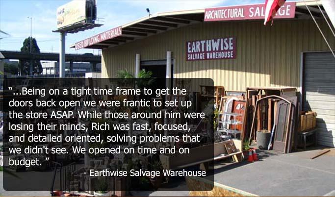 Earthwise Salvage Testimonial